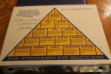John Wooden Hand Signed 8.5x11 Autographed Photo The Pyramid of Success
