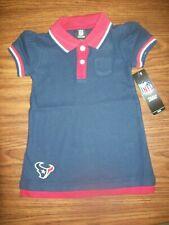 3ac8cdf56 Niño Niña NFL Houston Texans Mock Vestido Tipo Polo En Capas 4T Nuevo Nuevo  con etiquetas precio minorista sugerido por el fabricante $35