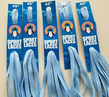 """FREE SHIP NEW Lot of 3 pair PENGUIN 45/"""" FLAT WHITE Sport LACES Shoe Boot Sneaker"""