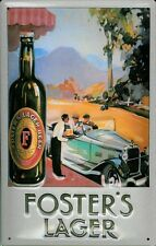 FOSTERS LAGER AUTO Vintage Metal Pub Sign | 3D Embossed Steel | Home Bar