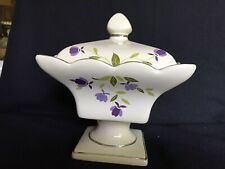 Hall SPRING LEAF Square Covered 1992 CANDY DISH LE China Specialities Autumn