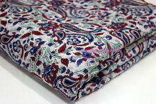 2.5 Yards Hand block Print Sanganeri Fabric $block print cotton fabric Paisley