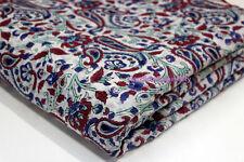 Hand block Print Sanganeri Fabric  cotton 2.5 Yard fabric Paisley MCKDIRFHEW28
