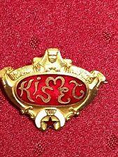 MASONIC  pin badge BROOKLYN AAONMS circa 1900