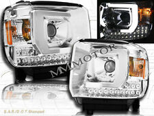 14-15 GMC Sierra 1500 2500HD 3500HD Pickup LED Projector Headlights Chrome