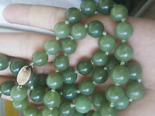 Antiue Chinese A Grade Nephrite Jade Necklace 122 gr.