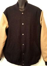 Duluth Trading Company Mens Wool Button Jacket Large Tall Black Brown  J1