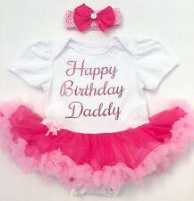 BABY GIRL'S Happy BIRTHDAY DADDY PINK Tutu Dress Newborn PRINCESS Present Party