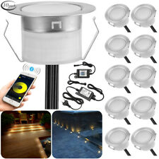 10PCS Bluetooth APP Controlling LED Decking/Plinth/Recessed Kitchen/Garden Light