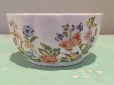 """AYNSLEY England Small Bowl """"Cottage Garden"""" Fine Bone China Floral Butterflies"""