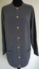 Hawick 100% Cashmere Cardigan. Long Sleeves, Button Fastening. Grey. Size Large