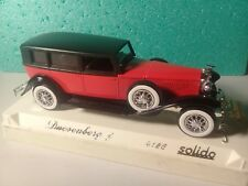 Véhicule Solido 1/43 Age d'Or - Duesenberg J 1934 - Ref: 4156 ( Rouge et noire )