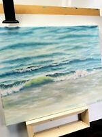 "Art 20""/16"" oil painting!!!hand painting!! Ocean,wave,seascape,beach,landscape,"