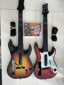 Nintendo Wii Guitar Hero Bundle - 2 Wireless Guitars & 1 Game GH III - UNTESTED