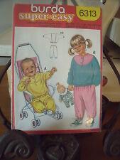 "PATRON"" BURDA JOGGING BABY    TAILLE 3 MOIS   A  4 ANS  N°6313"