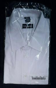 Edwards Men's Long Sleeve White Broadcloth Uniform Shirt 2XL (18-18.5) 34/35