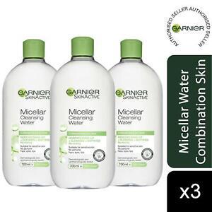 3Pk Garnier Micellar Water Facial Cleanser Combination Skin 700ml