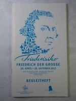 Friederisiko Friedrich der Große Ausstellung Potsdam Begleitheft 2012