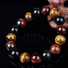10mm Tiger Eye Buddha Bracelets Trendy Natural Stone Jewelry for Women Men