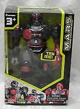 "M.A.R.S. Motorized Attack Robo Squad XSS 7"" WALKING ROBOT HAP-P-KID Red & Black"