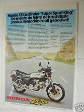 A032- HONDA CBX1000 SIX-CYLINDER MOTORCYCLE ADVERTISEMENT 1978 LET'S GO