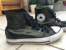 Black & gold converse hi tops size uk3 limited edition