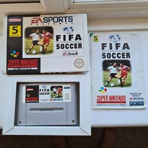 FIFA International Soccer SNES Super Nintendo Complete Collectors boxed Manual