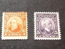 Canada Scott# 141,144 Macdonald and Laurier  MH 1927 C453