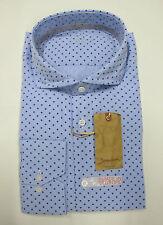 SIGNUM Hemd langarm Gr. M, L, XL Slim Fit hellblau gemustert UVP 79,95 €