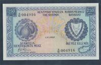 Zypern Pick-Nr: 41c (1.6.1982) bankfrisch 1982 250 Mils (8017983