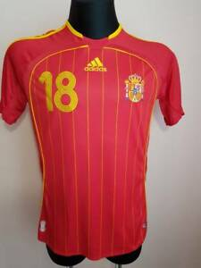 SPAIN NATIONAL TEAM 2005 2007 ORIGINAL FOOTBALL HOME SHIRT JERSEY ADIDAS SIZE S