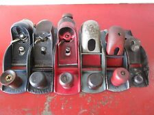VINTAGE STANLEY SEARS VICTOR BLOCK PLANE LOT ANTIQUE WOODWORKING TOOLS
