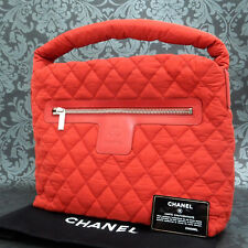 Rise-on CHANEL Coco Cocoon Nylon Quilted Padded Red Tote bag #2097