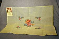 New listing Vintage Paragon Needlepoint Tapestry Sampler Canvas # B 7149 of a Rose Bouquet!