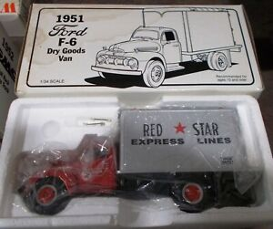 Red Star Express Lines 1951 Ford Dry Goods Van First Gear Truck