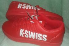 Red K-Swiss Large Print Solid Sneakers Size 5 kids