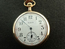 VINTAGE 16 SIZE ELGIN OPEN FACE POCKET WATCH GRADE 293 - KEEPING TIME