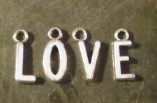 10 ALPHABET CHARMS 14.5 WITH LOOP YOU CHOOSE LETTERS
