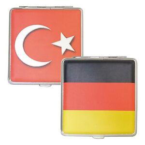 Edles Zigarettenetui Lederoptik  Zigarettenbox Metall Deutschland oder Türkei