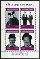 Chad 2019 CTO Stan Laurel & Oliver Hardy 4v M/S Actors Famous People Stamps