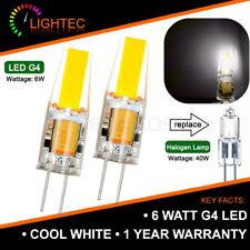 12V COOL WHITE 6W COB G4 LED LIGHT LAMP BULBS 40W HALOGEN EQUIVALENT 1/2/4/6PCS