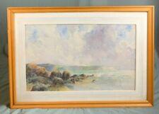 Coastal Landscape Watercolour Painting by Famous WWI War Artist W Cecil Dunford