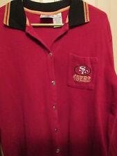 Vintage NFL GAME DAY Clothing Co. 49ers unisex sz. M button up 3/4 slv.pocket