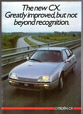 Citroen CX 1985-86 UK Market Brochure 20 RE 22 TRS 25 GTi Turbo Prestige Safari