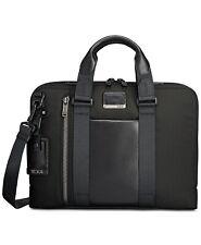 TUMI Men's Alpha Bravo Aviano Slim Briefcase Laptop Bag Ballistic Black NEW $450