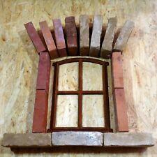 350sf ANTIGUO stallfenster HIERRO FUNDIDO DECORACIÓN ventan Jardín RUINAS Bodega