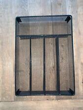 Black Wire Mesh Silverware Divider Tray