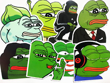 8 Political Meme Stickers Pepe The Frog 4chan Laptop Decal #Br
