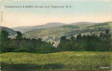 1907 Fleischmann's Griffin corners HIGHMONT NY Hand Colored postcard 3879
