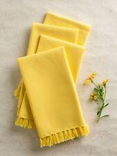 April Cornell Kitchen Napkins Set/4 NWT 100% Cotton Yellow
